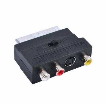 Переходник SCART-3RCA+S-VHS(TD-214 вход-выход)