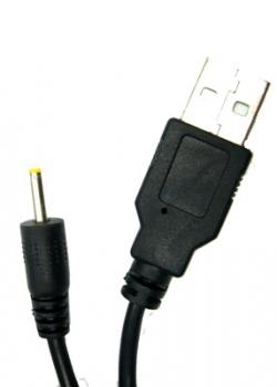 Кабель USB  (штекер USB – штекер 2,5 мм питание) 1м