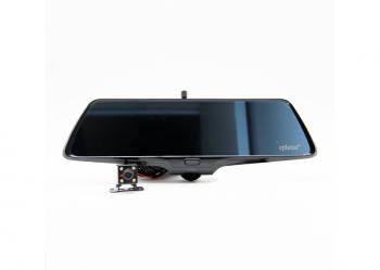 Автомобильный видеорегистратор-зеркало с 2-я камерами большой угол обзора Eplutus D36