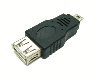 Переходник USB  (штекер mini USB-гнездо USB)